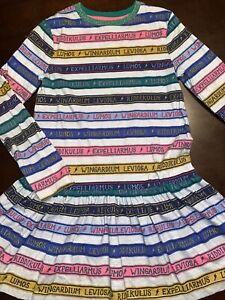 Mini Boden, Harry Potter Girls Size 8-9, Long Sleeve, Striped,Dress