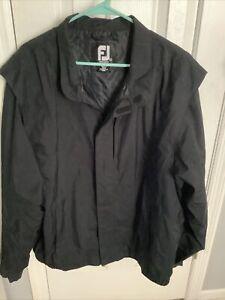 DryJoys By FOOTJOY - XL Golf Rain Jacket - Mens Extra Large - Black - Full Zip