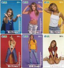 Britney Spears 6 telefoonkaarten/télécartes  (BS67-6c)