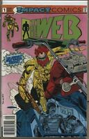 Web 1991 series # 1 UPC code very fine comic book