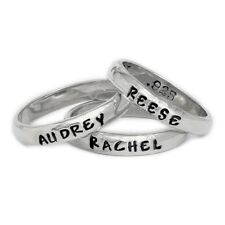 Personalized Rings In Sterling Silver