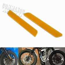 1pair Motorcycle Front Fork Leg Reflector Reflective Sticker Plastic For Harley