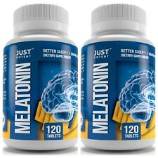 Pharmaceutical Grade Melatonin Supplement by Just Potent | 10mg Tablets | 2-Pack
