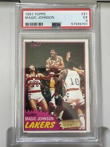 1981 Topps Magic Johnson PSA 5 Looks Better, Sharp Corners HOF MVP LA Lakers