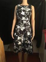 IHot Brandwomen's dress, Black/White, Size M, Sleeveless, Zipper back with Tie