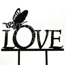Love Butterfly Acrylic Wedding Birthday Day Cake Topper Silhouette