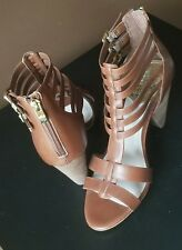 Vince Camuto brown strappy heel sandals, Sz 6.5 M