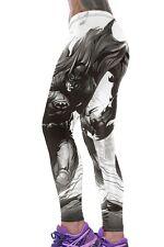 Jahnells Closet Batman Print High Stretch Yoga Pants  - White