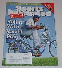 Sports Illustrated Kids Rollin with Yasiel Puig May 2014 Dodgers 9 Cards