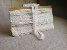 Vintage French Lace /White Lace Trim 4m / Antique Lace Ballet Dolls Bears NOS