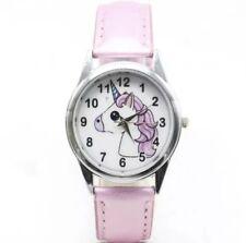 Uhr Armbanduhr Kinderuhr Pferd Einhorn Pony rosa Mädchen weiß silber rosa