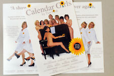 CALENDAR GIRLS MANCHESTER OPERA HOUSE FLYERS X 2 JAN HARVEY CAMILLA DALLERUP