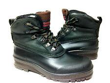 Sorel Hunter green Black Winter Snow Duck Boots Women's Size 9 USA.