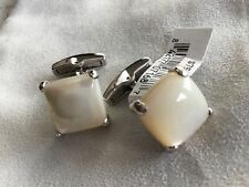 Kendra Scott Emmerson Ivory Mother Of Pearl & Silver Cuff Links $70 🎁❤️