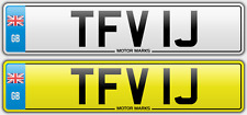PRIVATE NUMBER PLATE - TFV 1J - TFV TF TV NUMBER 1 CHEAP NUMBER TFV TF TV 1J 1