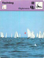 FICHE CARD Réglement Régates Racing Regatta Flying Dutchman Voilier Yacht 70s