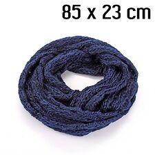 écharpe tube hiver bleu foncé 160 x 23 cm Neuf a1bac8058ec