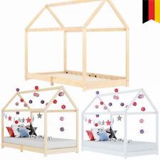 Kinderbett Holz Bett Haus Bettgestell Spielbett Bett Kinderhaus 90 x 200 cm DE