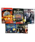 Lot Of 5 Computer Pc Video Games Everquest Ii Slots Clockwork Titanic World