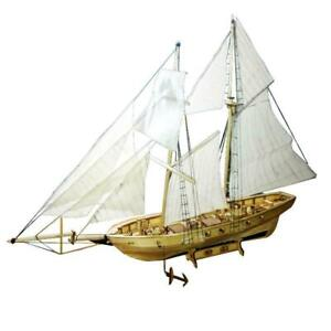 1:100 Scale Wooden Sailing Boat Sailboat Model Kits Ships Wooden E8L6