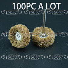 100pc 1inch 80Grit Polishers Buff Pad Abrasive Buff/Polishing Wheel 3mm Shank
