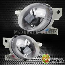 1 Pair Clear Len Chrome Housing Replacement Front Fog Lights Honda Del Sol 93-97