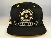 Boston Bruins NHL Reebok Snapback Hat Cap Black Gold