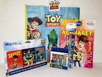 Toy Story Crayons, Color Activity Alphabet Book w/ Tote Bag Woody, Disney Lot