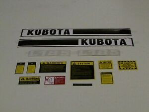 L185 tractor decal set with caution decal kit to fit Kubota