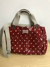 Cath Kidston Red Polka Dot Large Handbag Cross Body Tote Bag Holdall