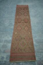 ELEGANT HAND KNOTTED TRIBAL KUCHI MUSHWANI RUG RUNNER / TURKISH TRIBAL RUNNER