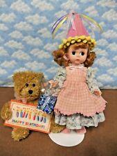 """Madame Alexander 8"""" Happy Birthday #325 Excellent -Restrung W/stand"""