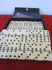 """SET OF, 54 PIECE """"DOMINOES,"""" WITH CASE & INSTRUCTIONS"""