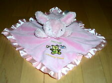 Pink Bunny Bear Hugs Butterfly Kisses Blanket Rattle