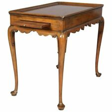 Carved Mahogany Colonial Williamsburg Tea Table with Slides by Kittinger