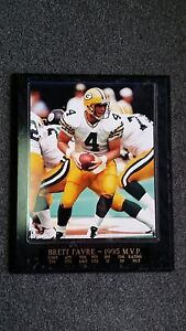 Unique & Rare 1995 - Green Bay Packers - Brett Favre MVP Plaque with Stats