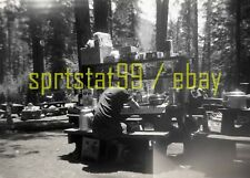 1950s Camping Scene - Kitchen / Pantry / Food Supplies - Vintage B&W Negative