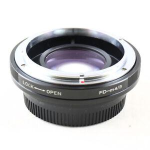 Focal Reducer Speed Booster Adapter Canon FD Objektiv für Micro 4/3 m43 G6 E-PL6