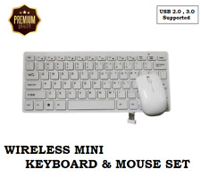 UK wireless 2.4G Mini Qwerty Keyboard & Mouse set for APPLE MAC PC Computer all