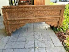 Antique Indian Arch Bench Salvaged Welcome Gate Beautifully Carved Solid Wood
