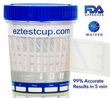 12 Panel Drug Test Cup Urinalysis FDA CLIA HOME TEST HEROIN - COCAINE - THC