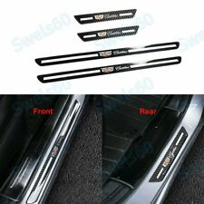 Carbon Fiber Welcome Plate Door Sill Scuff Cover Decal Sticker For Cadillac X4