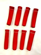 Spark Plug Wire Heat Shield Protector Insulators 1200 Degree 8pcs Chevy RED