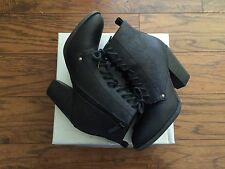 Brekelle's black leather boots womens 6 1/2