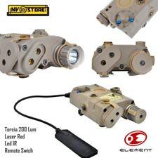 AN-PEQ Element Torcia Led + Puntatore Laser Red + Led IR + Comando Remoto Tan
