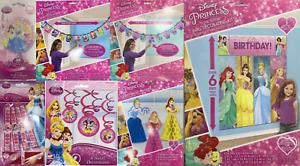 Disney Princess Belle, Rapunzel Ariel Kids Birthday Party Tableware Decorations