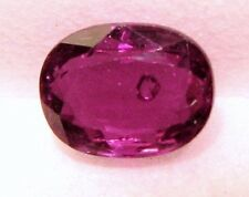 0.85 Carat, Natural Mined Loose Gem 1 Pc Thai Oval Ruby  Purp-Red 6.2x4,8x2.6 MM
