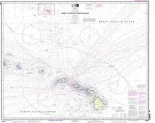 NOAA Chart Hawaii to French Frigate Shoals 18th Edition 19007