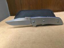 Allen Elishewitz Custom Knife, M2 flipper, titanium liner lock, Monkey Edge Frag