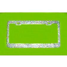 WOW! MEGA BLING Disco Colored GLITTER Bling Sparkling metal License Plate Frame